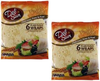Delisun Soft Flour Tortillas Wraps Large 360g ( Pack of 2)