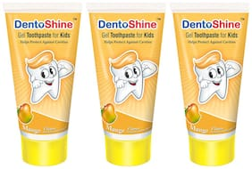 DentoShine Gel Toothpaste for Kids - Mango (Pack of 3)