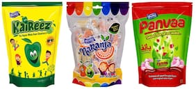 Derby Kaireez Naranja Panvaa mix Fruit Candy candy Chocolate Toffee Pack For Family and Friends -215g (Pack of 3)