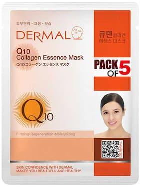 Dermal Korea Q10 Collagen Essence Face Sheet Mask (Pack of 5)