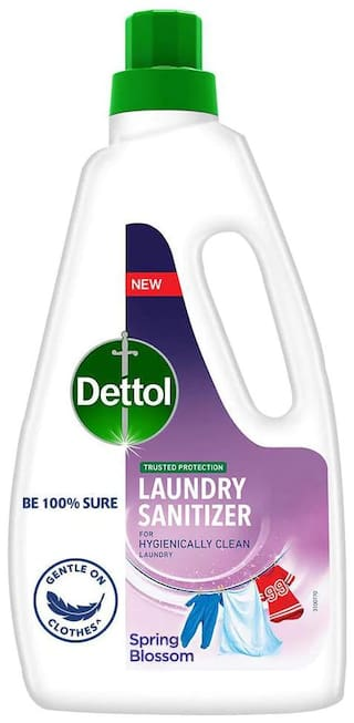 Dettol After Detergent Wash Liquid Laundry Sanitizer-Spring Blossom - 960ml ( Pack of 2)