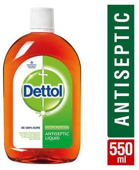 Dettol Antiseptic Liquid 550 ml (Pack of 3)