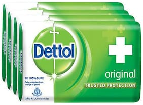 Dettol Bathing Bar Soap - Germ Protection  Original 75 g (Pack Of 4)