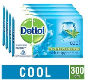 Dettol Bathing Bar Soap - Germ Protection  Cool 75 gm (Pack Of 4)