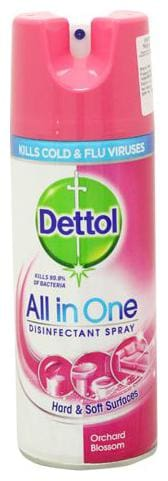 Dettol Disinfectant Spray - All In One Orchard Blossom - Imported 400 Ml