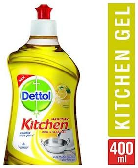 Dettol Kitchen Dish And Slab Gel - Lemon Fresh, Germ Protection 400 ml