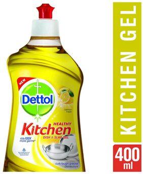 Dettol Kitchen Dish And Slab Gel Lemon Fresh 400ml