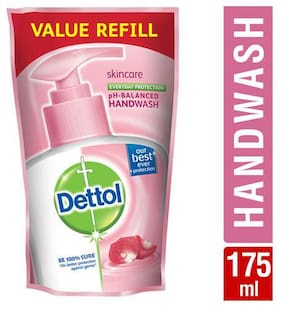 Dettol Liquid Handwash - Ph Balanced  Germ Protection  Pouch  Skincare 175 Ml