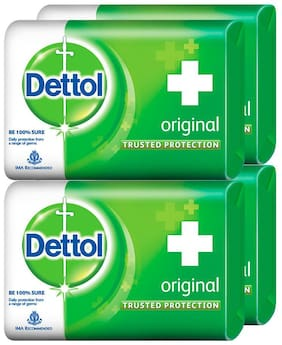 Dettol Original Soap;125g Each (Pack of 4)