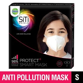 Dettol Siti Shield Protect Plus N95 Smart Anti Pollution Mask (Small)