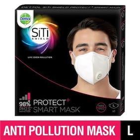 Dettol SiTi Shield Protect plus N95 Anti Pollution Smart Mask  (Large)