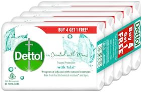 Dettol Tulsi Beauty Bathing Soap Co-created with moms;75g Each (Buy 4 get 1 Free)