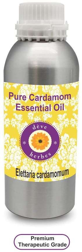 Deve Herbes Pure Cardamom Essential Oil (Elettaria cardamomum) 100% Natural Therapeutic Grade Steam Distilled 1250ml