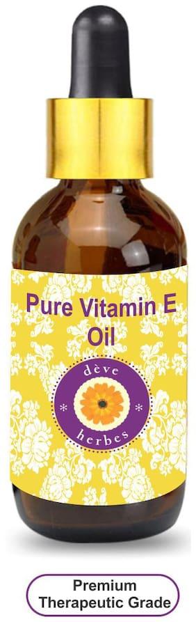 Deve Herbes Pure Vitamin E Oil with Glass Dropper 100% Natural Therapeutic Grade 100ml