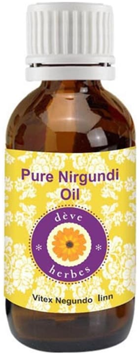 Deve Herbes Pure Nirgundi Oil (Vitex negundo linn) 100% Natural Therapeutic Grade 100ml