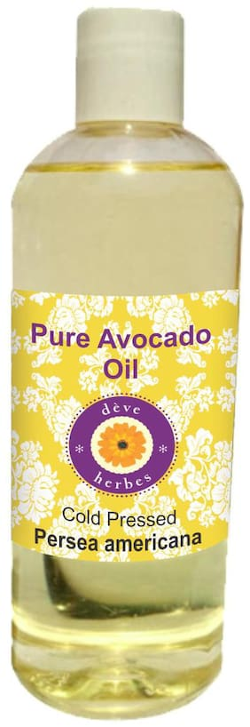 Deve Herbes Pure Avocado Oil (Persea americana) 100% Natural Therapeutic Grade Cold Pressed 200ml