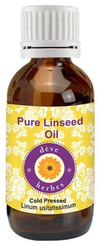 Deve Herbes Pure Linseed Oil (Linum usitatissimum) 100% Natural Therapeutic Grade Cold Pressed 50ml