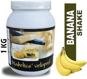 DEVELO Diabetics Veloprot low calorie Sugar free protein Powder 1 kg (BANANA SHAKE)
