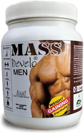 Develo Mass Gainer Formulated For Men 1kg Chocolate Mint