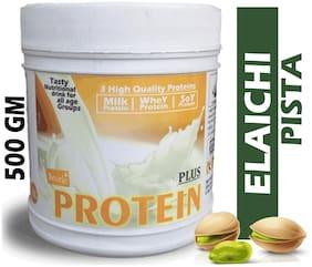 DEVELO PROTEIN PLUS WHEY/SOY/MILK TRIPLE NUTRITION SUPPLEMENT POWDER (ELAICHI PISTA) 500g