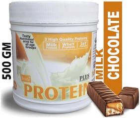 DEVELO PROTEIN PLUS WHEY/SOY/MILK TRIPLE NUTRITION SUPPLEMENT POWDER (MILK CHOCOLATE) 500g