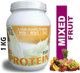 Develo Protein Plus Whey Soy Milk Triple Nutrition Supplement Powder Mixed Fruit 1kg