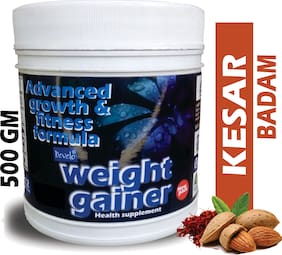 Develo Weight/Mass Gainer Whey & Soy Protein Supplement Powder For Gym With Rapid Carbs Kesar Badam 500g