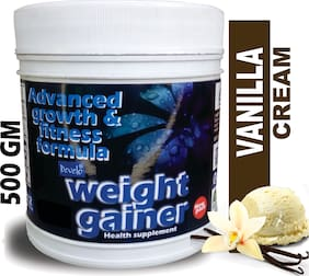 Develo Weight/Mass Gainer Whey & Soy Protein Supplement Powder For Gym With Rapid Carbs Vanilla Cream 500g