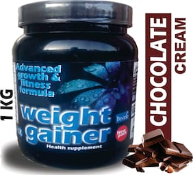 Develo Weight/Mass Gainer Whey & Soy Protein Supplement Powder For Gym With Rapid Carbs Chocolate Cream , 1 kg