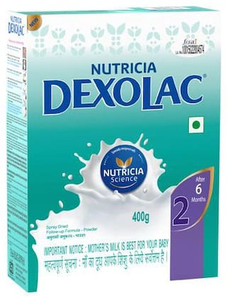 Dexolac Infant Formula - Powder  Stage 2  BIB 400 g