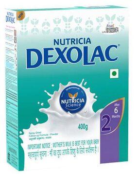Dexolac Infant Formula - Nusobee Casein, Stage 2, 6-24 Months 400 gm