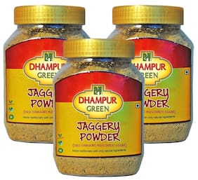 Dhampur Green Jaggery Powder 700gm (Pack of 3) Shipping Included .