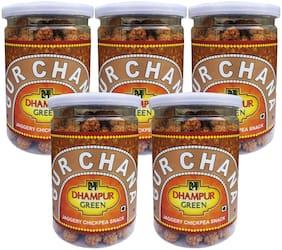 Dhampur Green Gur Chana 200 g (Pack of 5)