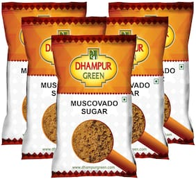 Dhampur Green Muscovado Sugar 500gm (Pack of 5) Shipping Included .