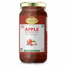 Dhampure Speciality Apple Fruit Conserve Jam with Cinnamon, Organic Sugarcane Juice and Jaggery, No Added Sugar, 300g