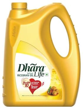 Dhara Refined Oil - Rice Bran 5 L