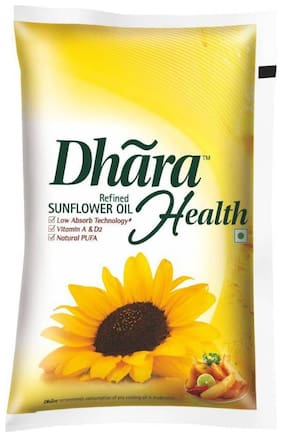 Dhara  Refined - Sunflower Oil 1 L