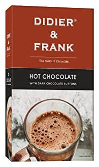 Didier & Frank Hot Drinking Chocolate with Dark Chocolate Buttons 200g (Drink Hot or Cold Milk Shake)