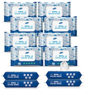 Dignity 99% Water Wipes;150 x 200 mm;80 Wipes (Pack of 12)