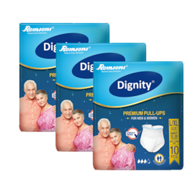 Dignity Adult Pullup Diaper Large Extra Large 10 pcs Pack of 3