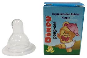 Dimpu Poop-Cee Bottle Nipples - Rubber  Silicone  Deluxe 1 pc