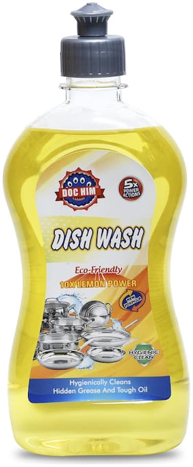 Doc Him Lemon Dish Wash Liquid 500 ml (Pack Of 1)