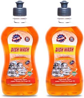Doc Him Orange Dish Wash Liquid 500 ml Each (Pack Of 2)