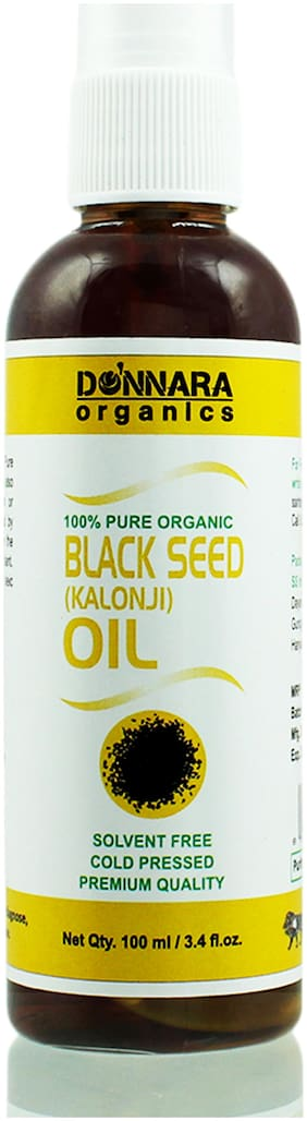 Donnara Organics Premium Black Seed(Kalonji) oil- 100% Pure & Natural(100 ml)