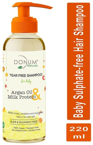Donum Naturals Tear Free Shampoo with Argan Oil & Milk Protein for Baby -(220 ml)