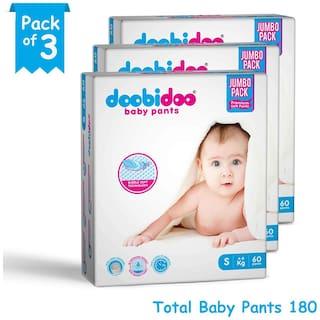 Doobidoo Baby Pants - Small Size - 60 Pants (Pack of 3)