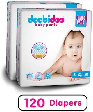 Doobidoo Baby Pants - Small Size - 60 pants (Pack of 2)