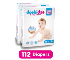 Doobidoo Baby Pants - Medium Size - 56 pants (Pack of 2)