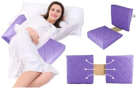 Double Wedge Pregnancy Pillow violet with Quilted Cover