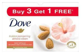 Dove Almond Cream Beauty Bathing Bar 100 g (Buy 3 Get 1 Free)